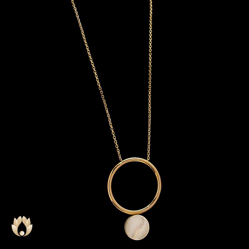 گردنبند طلا المپیو طرح حلقه