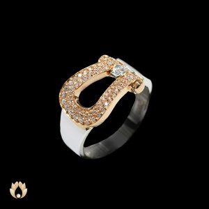 انگشتر طلا زنانه طرح امگا