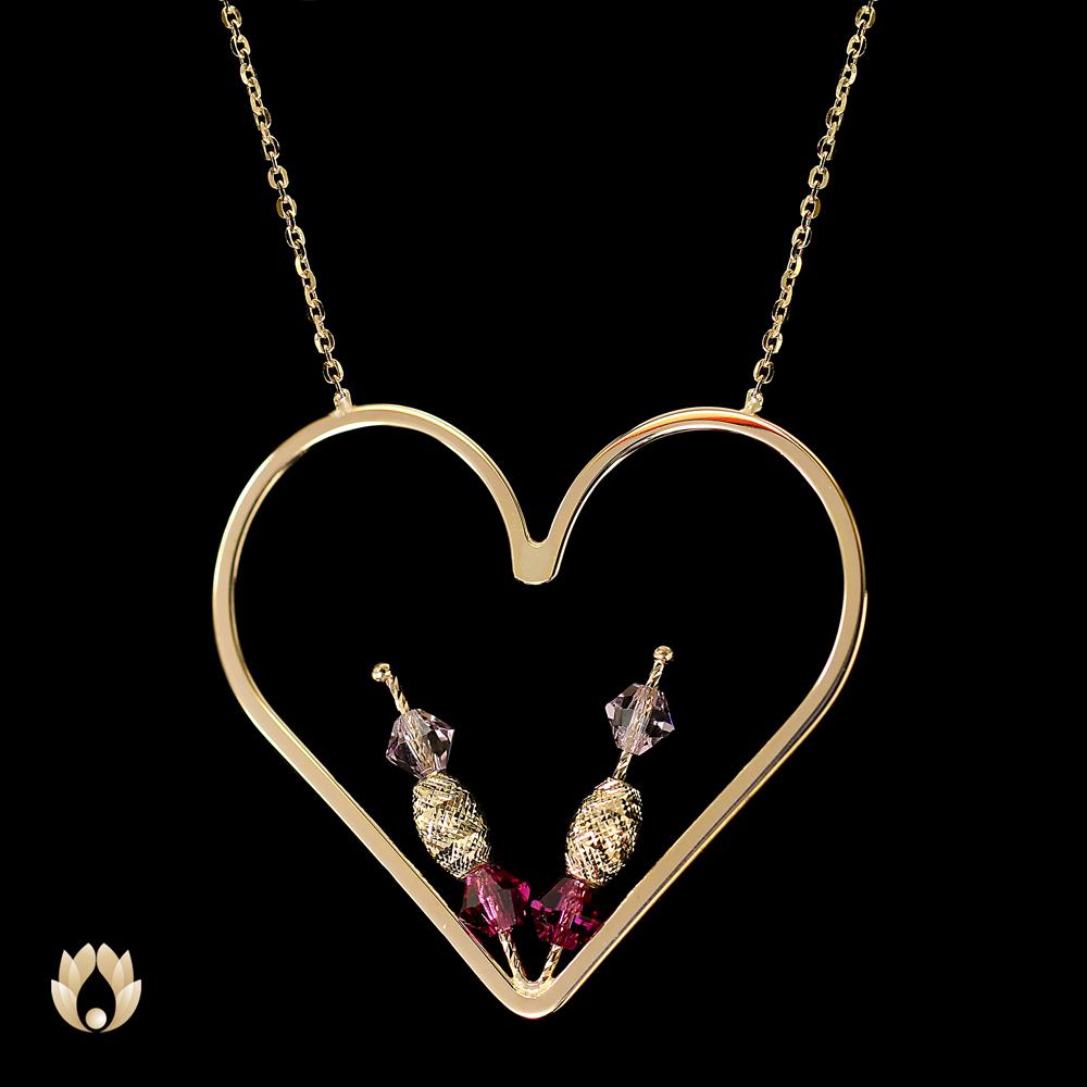 گردنبند طلا المپیو قلب