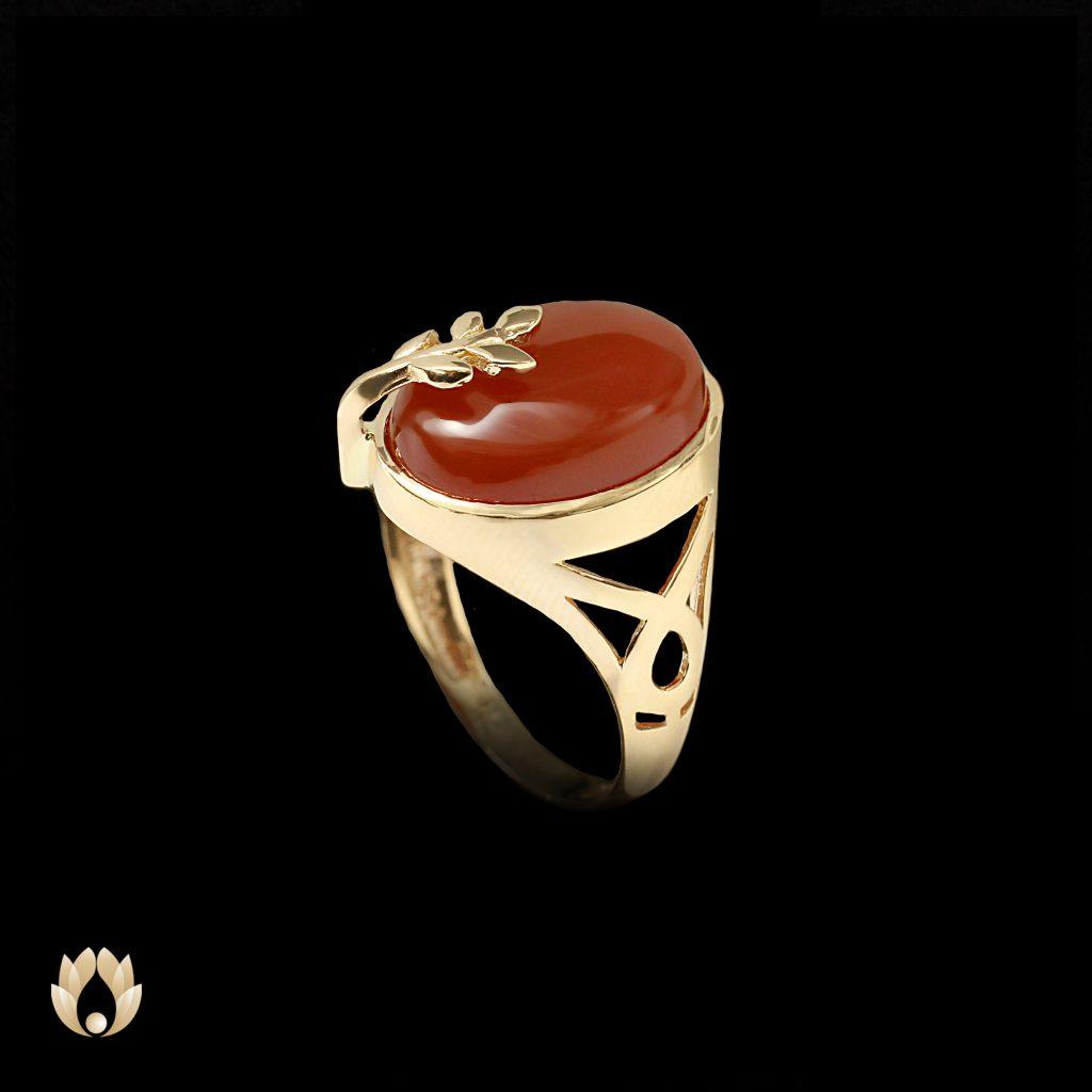 انگشتر طلا عقیق زنانهکد A1001