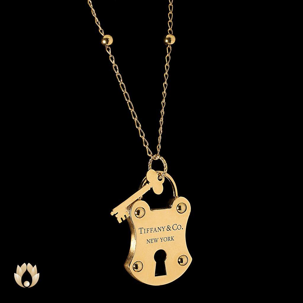 گردنبند طلا قفل پلیس و کلید