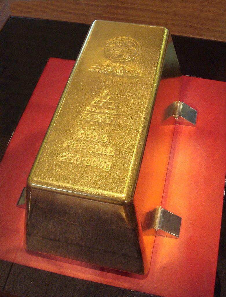 بزرگترین شمش طلا